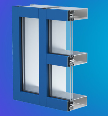 YCW 750 OGP  Thermally Broken Curtain Wall  Featuring Polyamide Pressure Plates