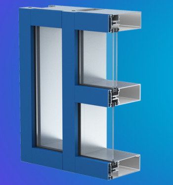YCW 750 OG  Outside Glazed Open Back  Curtain Wall System