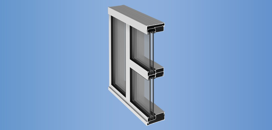 YCN 40 - Front Loaded Ribbon Window Wall