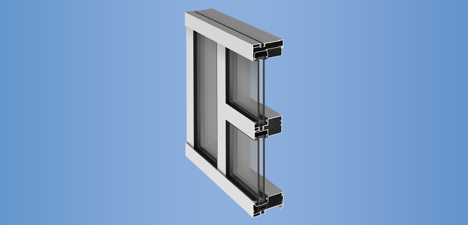 YCN 40 T - Thermally Broken, Front Loaded Ribbon Window Wall