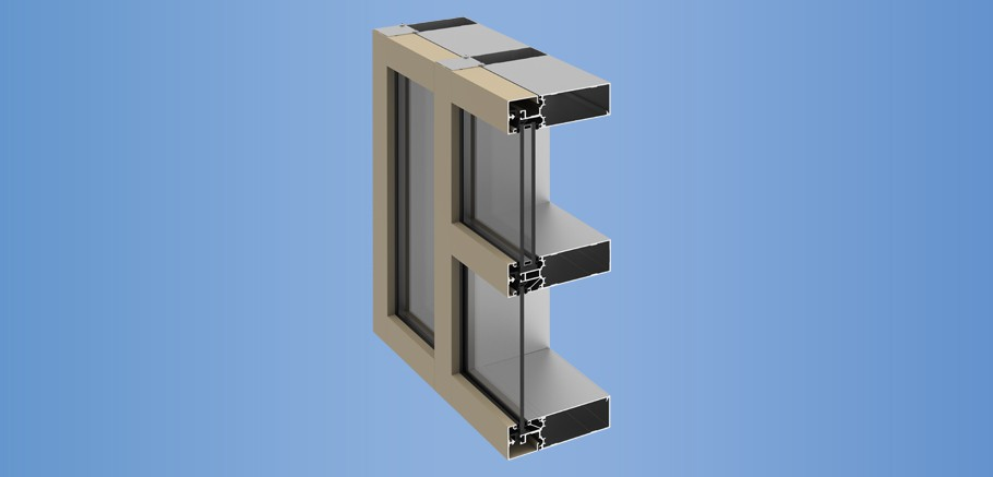 YCW 700 - Thermally Improved Outside Glazed Curtain Wall System