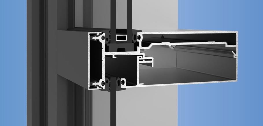 YCW 750 IG - Inside Glazed Curtain Wall System