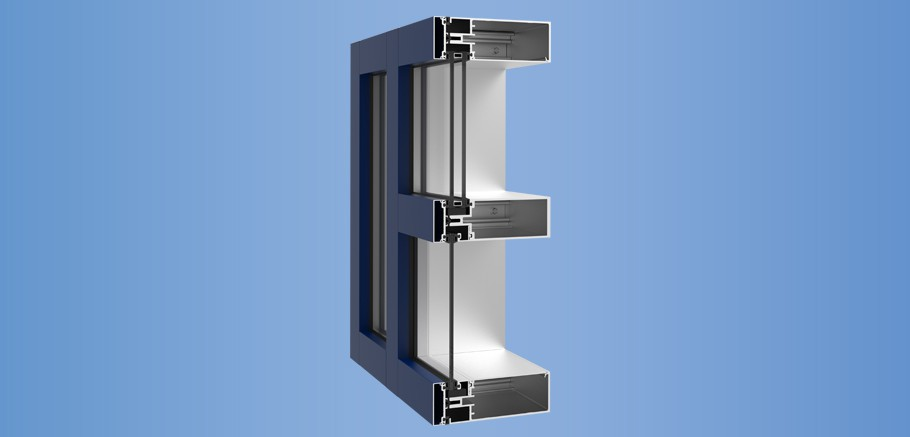 YCW 750 OG - Outside Glazed Curtain Wall System