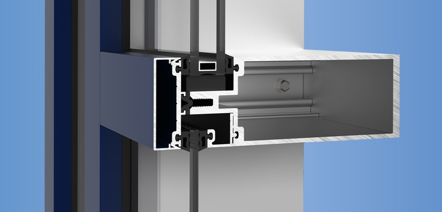 YCW 750 OG - Outside Glazed Curtain Wall System