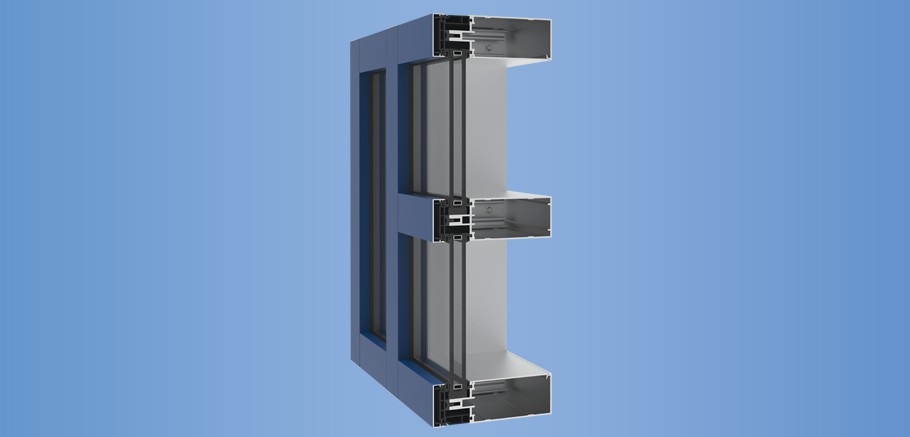 YCW 750 OGP - Thermally Broken Curtain Wall Featuring Polyamide Pressure Plates