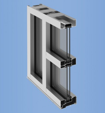 YES 45 FI - Center Set, Flush Glazed Storefront System with Insulating Glass