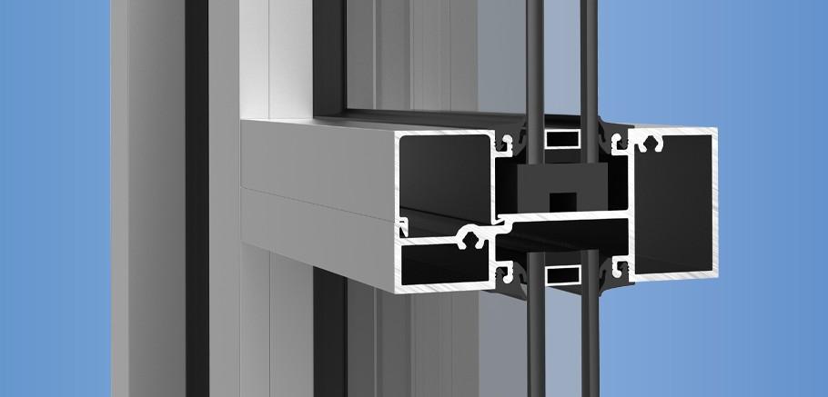 YES 45 FI - Center Set, Flush Glazed Storefront System with Insulating Glass