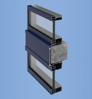 YWW 50 T - Thermally Broken Window Wall System with Optional Slab Edge Cover