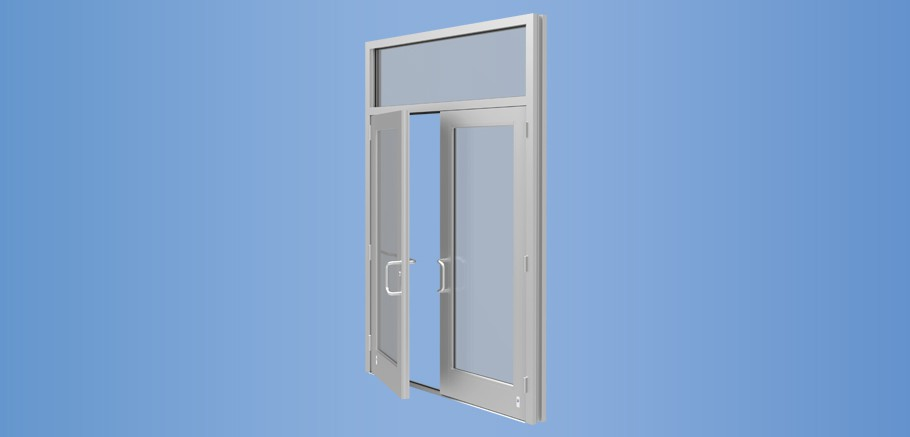 Model 35H - Impact Resistant and Blast Mitigating Medium Stile Entrance