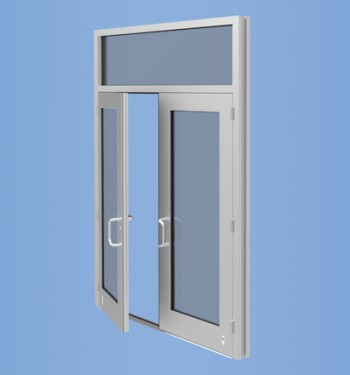 Model 50H - Impact Resistant and Blast Mitigating Wide Stile Entrance