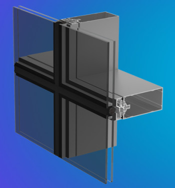 YCW 750 SSG Two and Four-Side Silicone Glazed Curtain Wall System