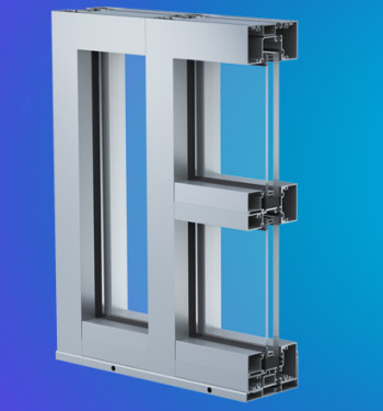 YHS 50 TU Thermally Broken Impact Resistant and Blast Mitigating Storefront System for Insulating Glass