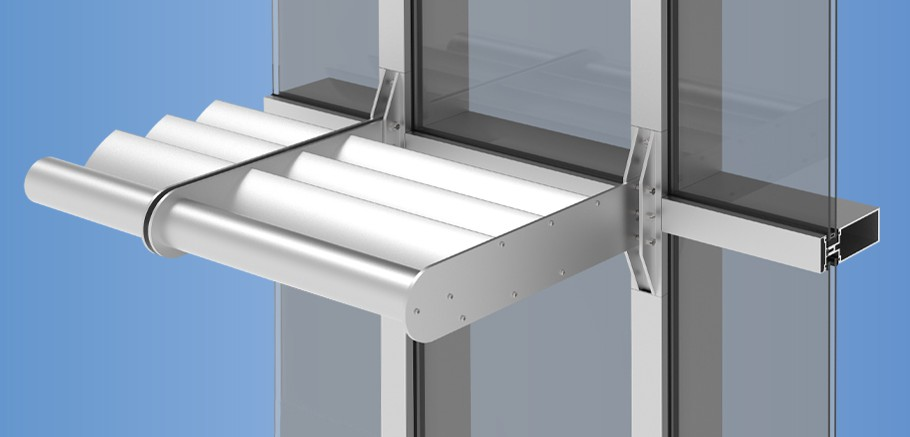 ThermaShade® Sun Control System for Curtain Walls and Storefronts