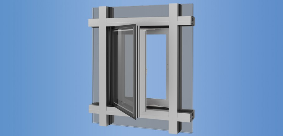 YES SSG TUH VENT - Thermally Broken, Impact Resistant Vent Window for Storefront and Curtain Wall