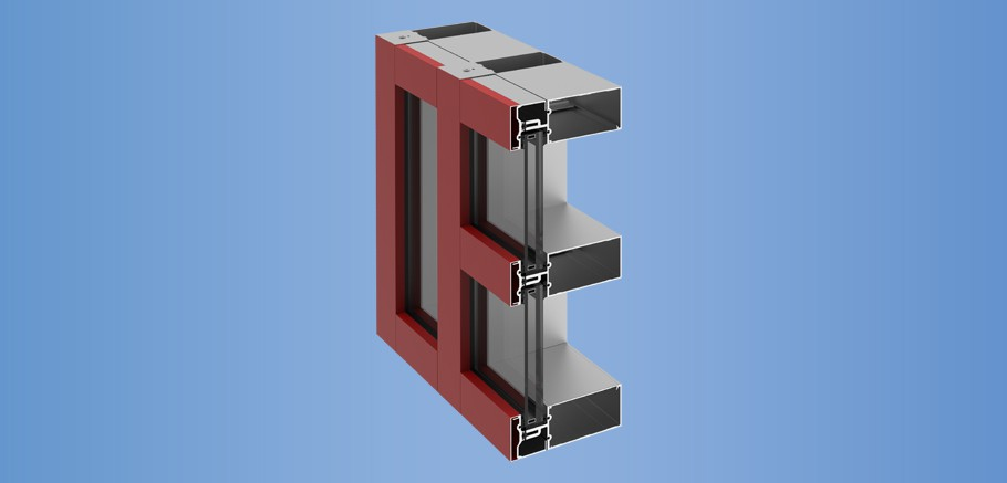 YHC 300 OG - Impact Resistant and Blast Mitigating, Outside Glazed Curtain Wall System