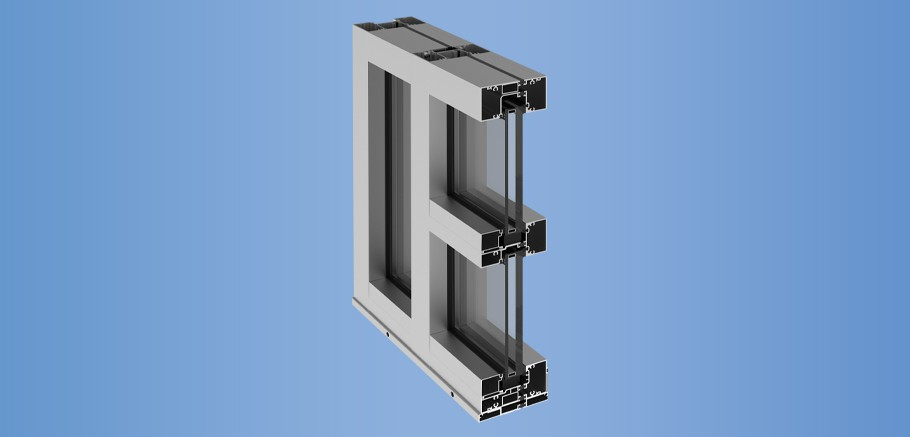 YHS 50 TU - Thermally Broken, Impact Resistant and Blast Mitigating Storefront System for Insulating Glass