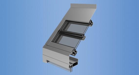 Glazing Framing Systems : Ysk ykk ap aluminum sloped glazing products