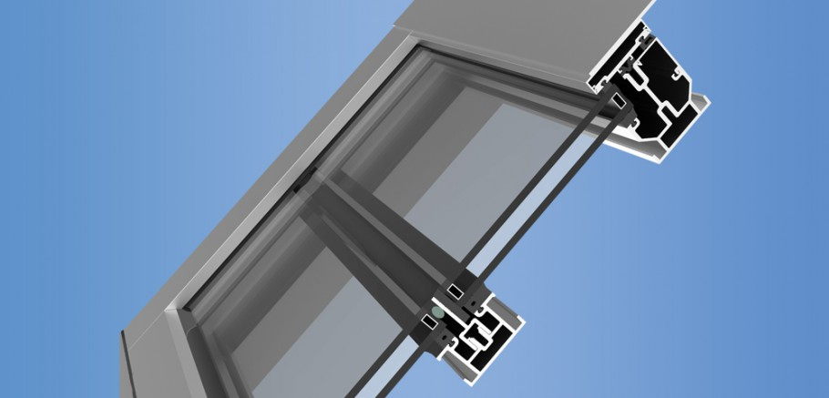 YSK 750 - Slope Glazed Framing System for Curtain Walls