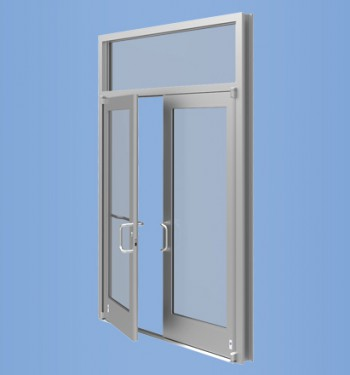 Model 35HL - Impact Resistant Medium Stile Low Pressure Entrance