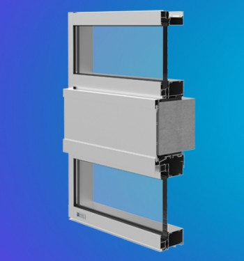 YWW 50 T Thermally Broken Window Wall System with Optional Slab Edge Cover