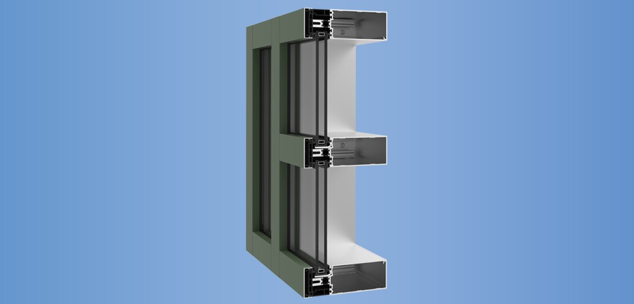 YCW 750 XTP - High Performance Curtain Wall Featuring Dual Thermal Barriers and Polyamide Pressure Plates