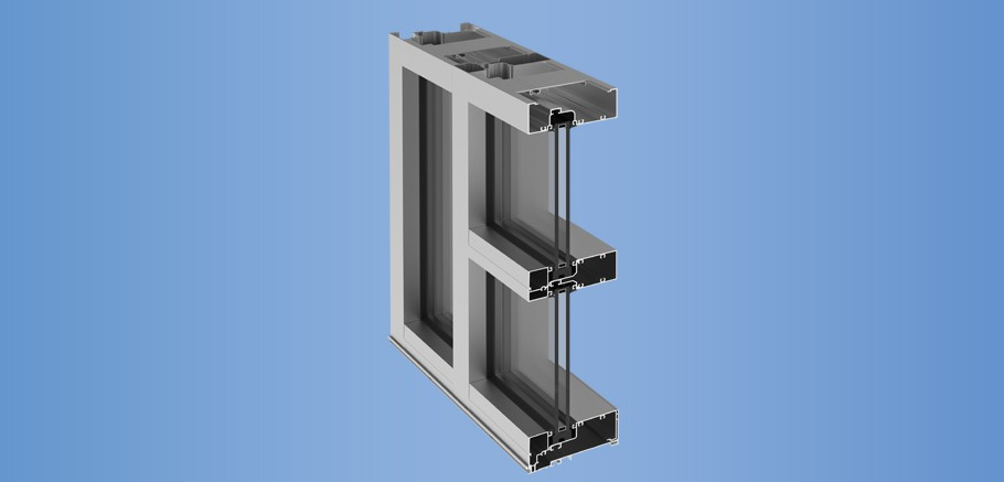 YES 60 FI - Flush Glazed Storefront System with Insulating Glass