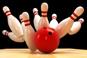 14315380 - skittle and bowling ball