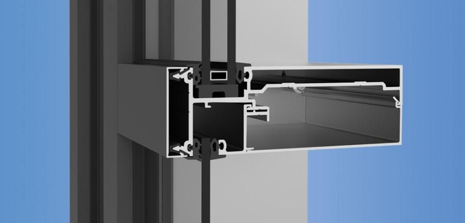 Inner Curtain Wall : Inside glazed curtain wall system menzilperde