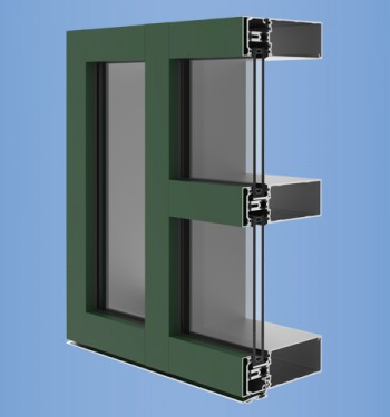 YCW 750 XT High Performance Curtain Wall Featuring Dual Thermal Barriers