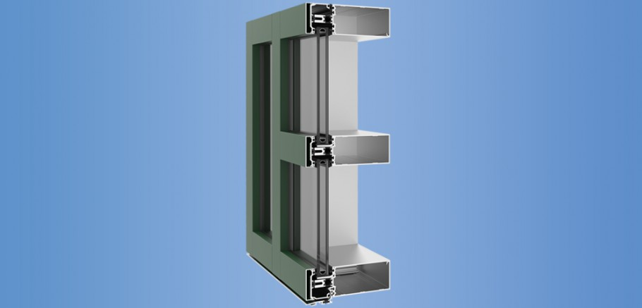 YCW 750 XT - High Performance Curtain Wall Featuring Dual Thermal Barriers