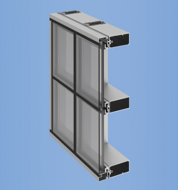 YHC 300 SSG Cassette - Hurricane Impact Resistant Curtain Wall 4-Sided SSG with Cassette Installation