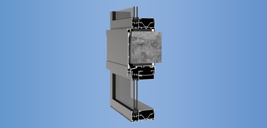 YWW 60 TU - Thermally Broken Window Wall System with Optional Slab Edge Cover