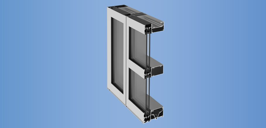 YWW 50 TU - Thermally Broken Window Wall System with Optional Slab Edge Cover