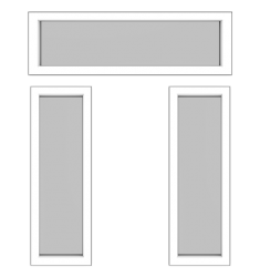 Design this StyleView® Sidelite and Door Transom Windows
