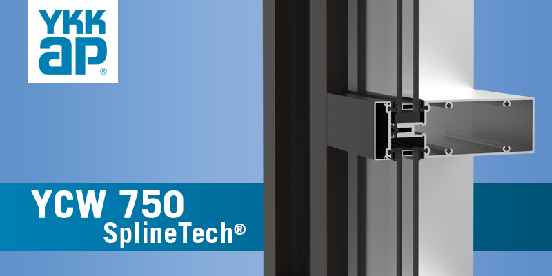YCW 750 SplineTech Curtain Wall